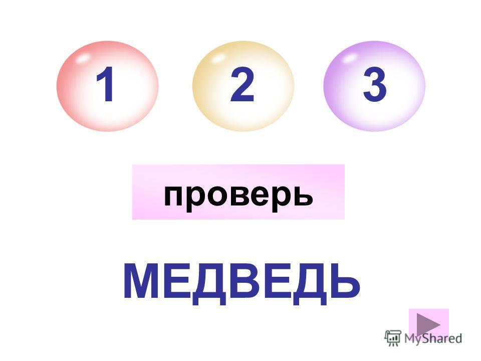 МЕДВЕДЬ 21 м.р. 3 проверь