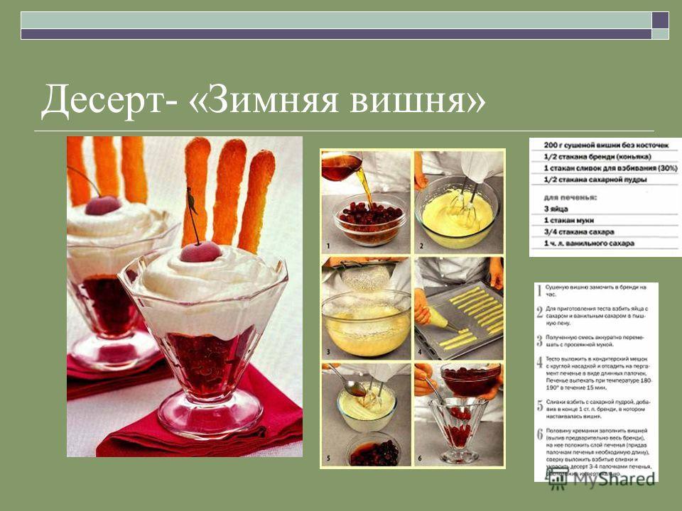 Десерт- «Зимняя вишня»