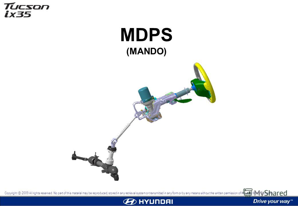 MDPS (MANDO) Copyright 2009 All rights reserved. No part of this material may be reproduced, stored in any retrieval system or transmitted in any form or by any means without the written permission of Hyundai Motor Company.