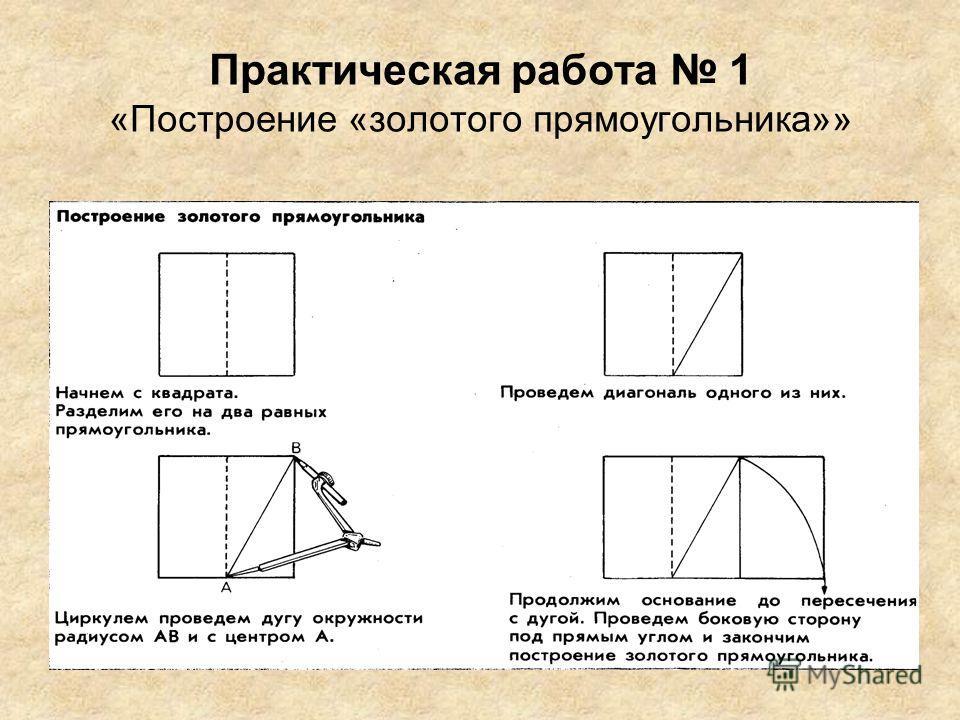 Практическая работа 1 «Построение «золотого прямоугольника»»