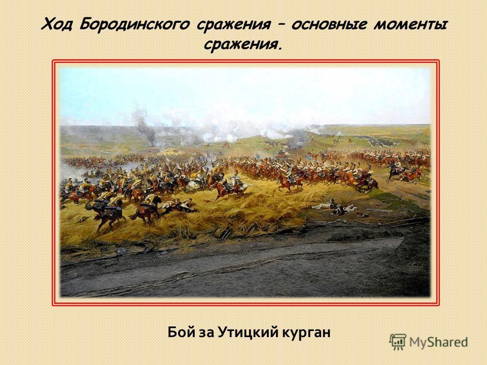Бой за Утицкий курган Ход Бородинского сражения – основные моменты сражения.