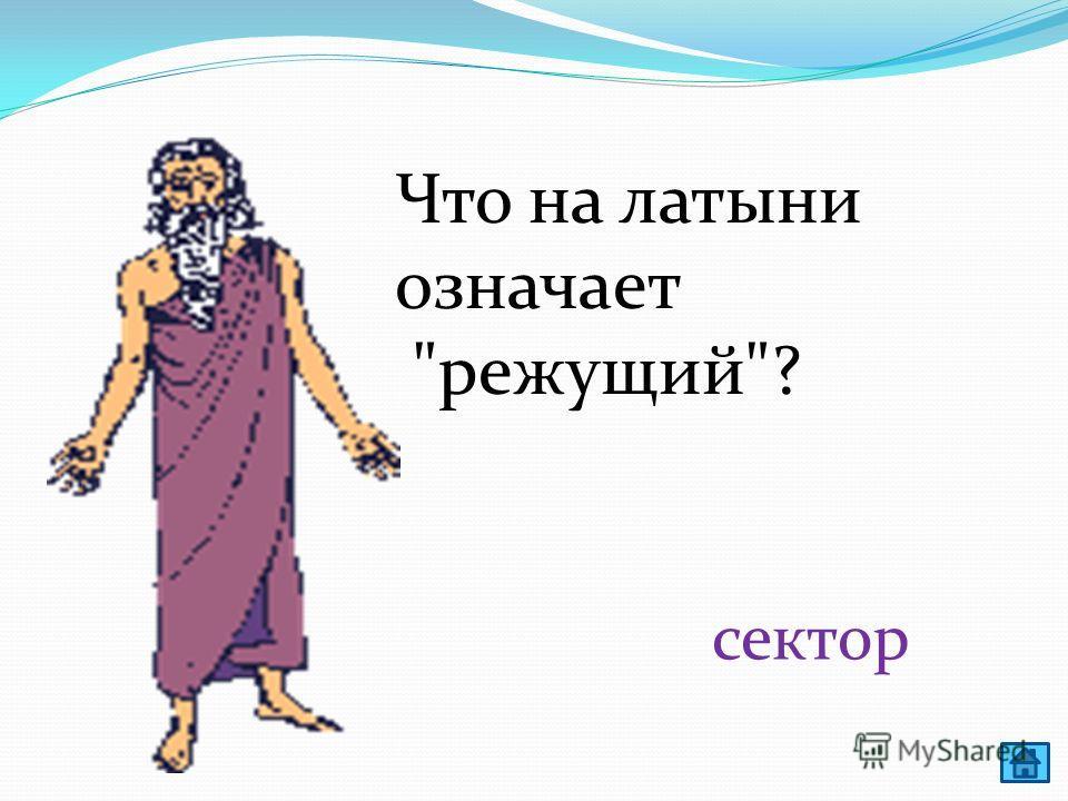 Этот математический термин в переводе с греческого означает струна. Что это? Хорда