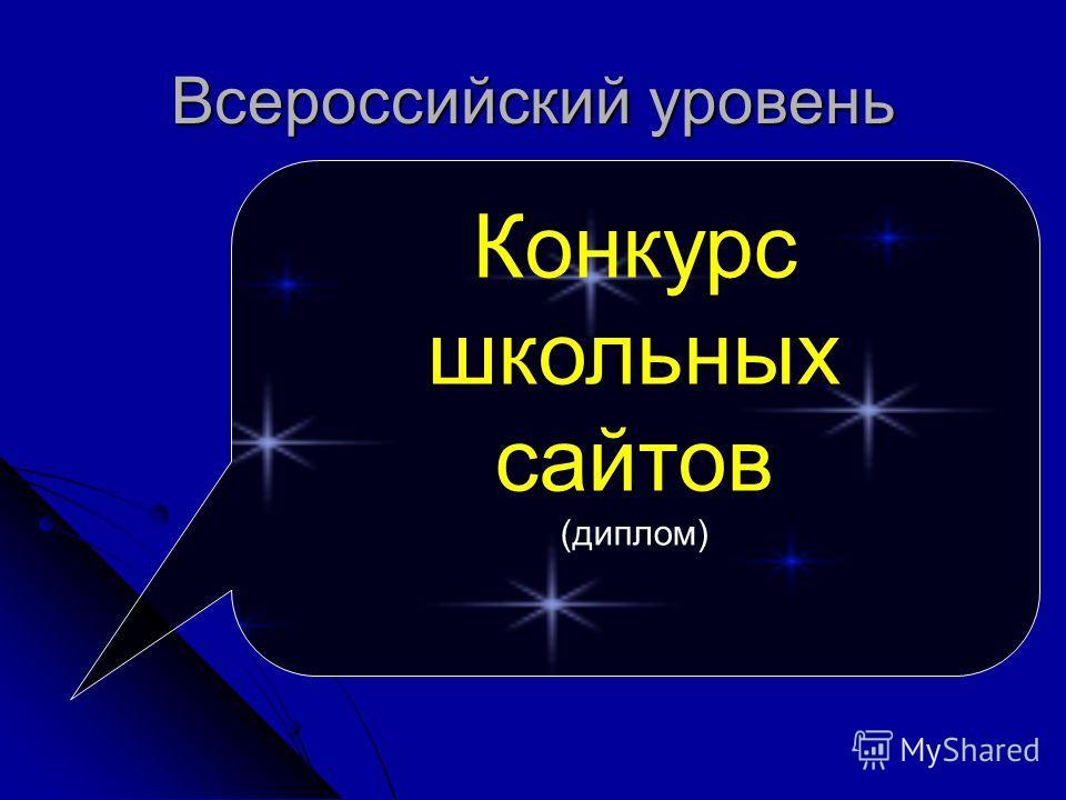 Всероссийский уровень Конкурс школьных сайтов (диплом)