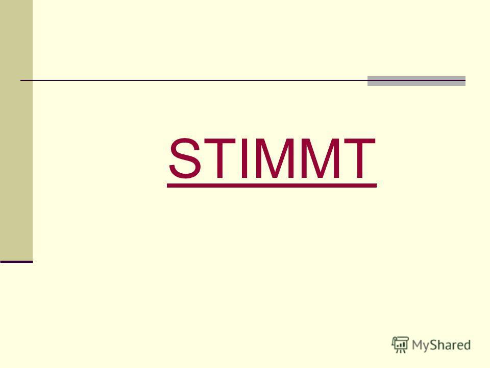 STIMMT