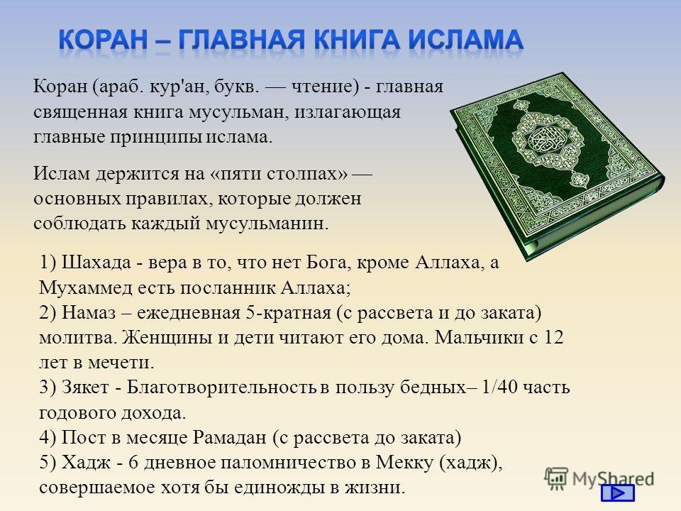 молитва у мусульман 5 букв - фото 9