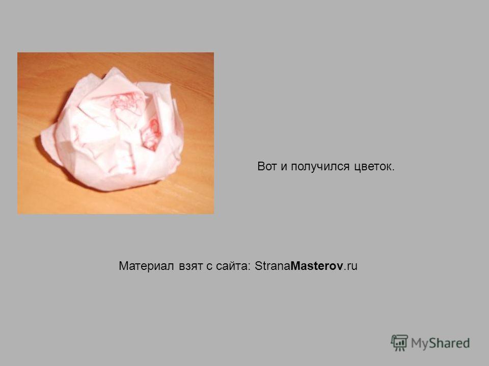Вот и получился цветок. Материал взят с сайта: StranaMasterov.ru