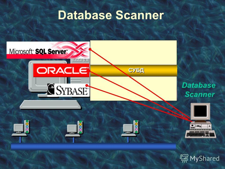 ПРИЛОЖЕНИЯ СУБД ОС СЕТЕВЫЕ СЛУЖБЫ ПОЛЬЗОВАТЕЛИ Database Scanner Database Scanner
