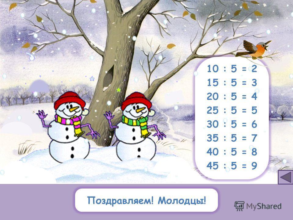 122532 30 3645 4840351015 20 24 10 : 5 = 2 15 : 5 = 3 20 : 5 = 4 25 : 5 = 5 30 : 5 = 6 35 : 5 = 7 40 : 5 = 8 45 : 5 = 9 Какие числа делятся на 5?