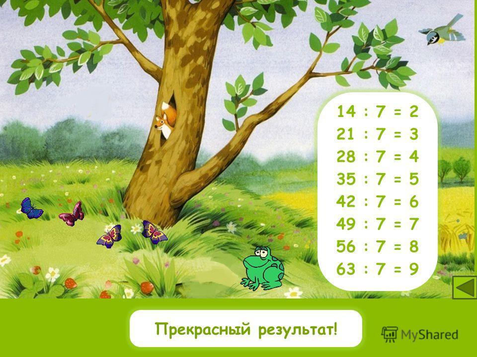 3542 40 4963 6456481424 28 30 21 : 7 = 3 28 : 7 = 4 35 : 7 = 5 42 : 7 = 6 49 : 7 = 7 56 : 7 = 8 63 : 7 = 9 14 : 7 = 2 Какие числа делятся на 7? 21