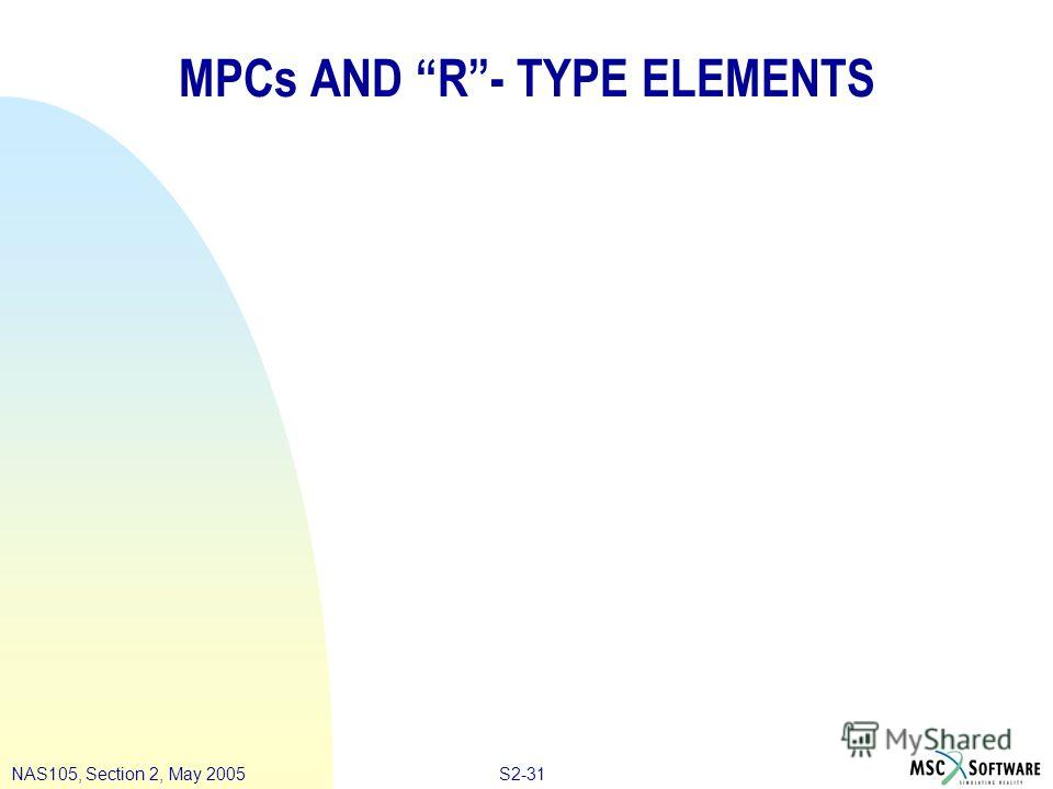 S2-31NAS105, Section 2, May 2005 MPCs AND R- TYPE ELEMENTS