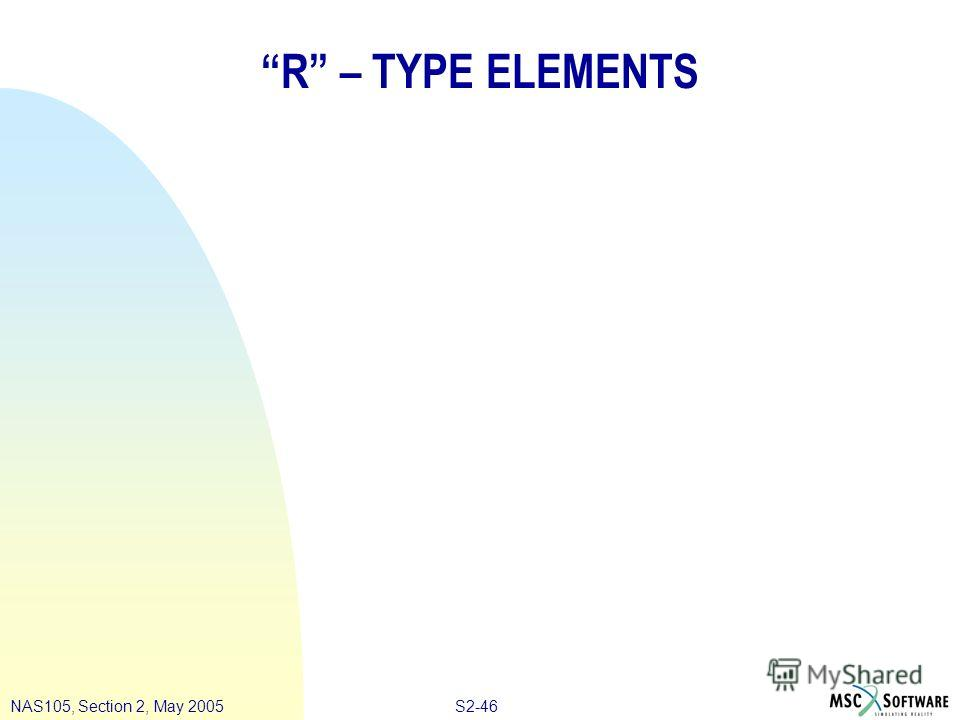 S2-46NAS105, Section 2, May 2005 R – TYPE ELEMENTS