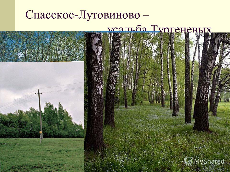 Спасское-Лутовиново – усадьба Тургеневых