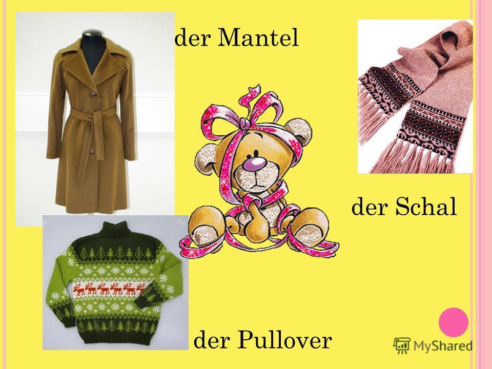 der Mantel der Pullover der Schal