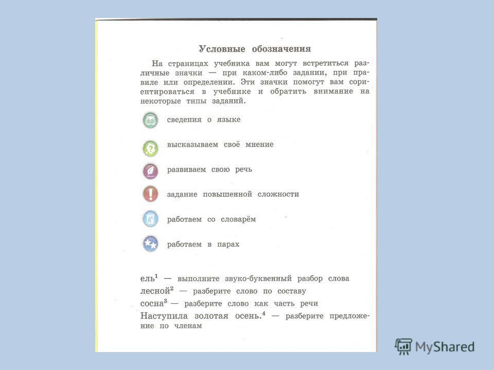 наша речь и наш язык знакомство с учебником 4 класс