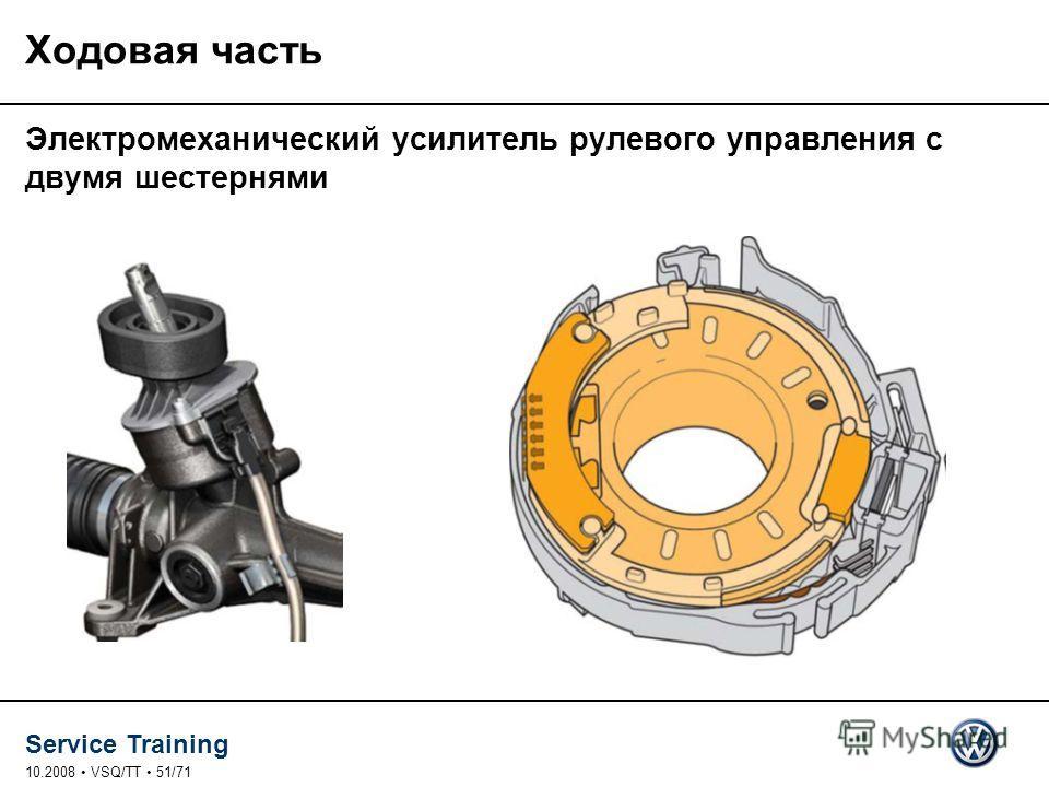 Service Training 10.2008 VSQ/TT 51/71 Ходовая часть Электромеханический усилитель рулевого управления с двумя шестернями