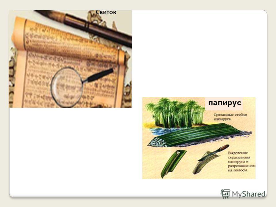 Свиток папирус