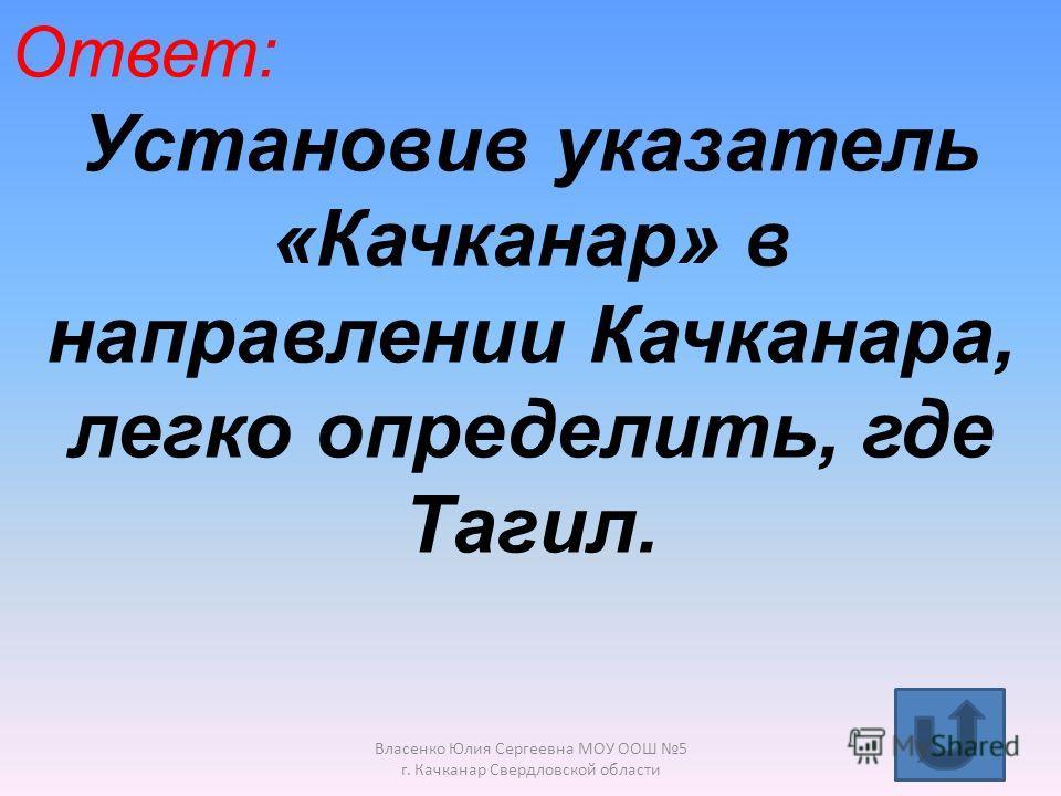 Вопрос для выбора первого участника. Власенко Юлия Сергеевна МОУ ООШ 5 г. Качканар Свердловской области