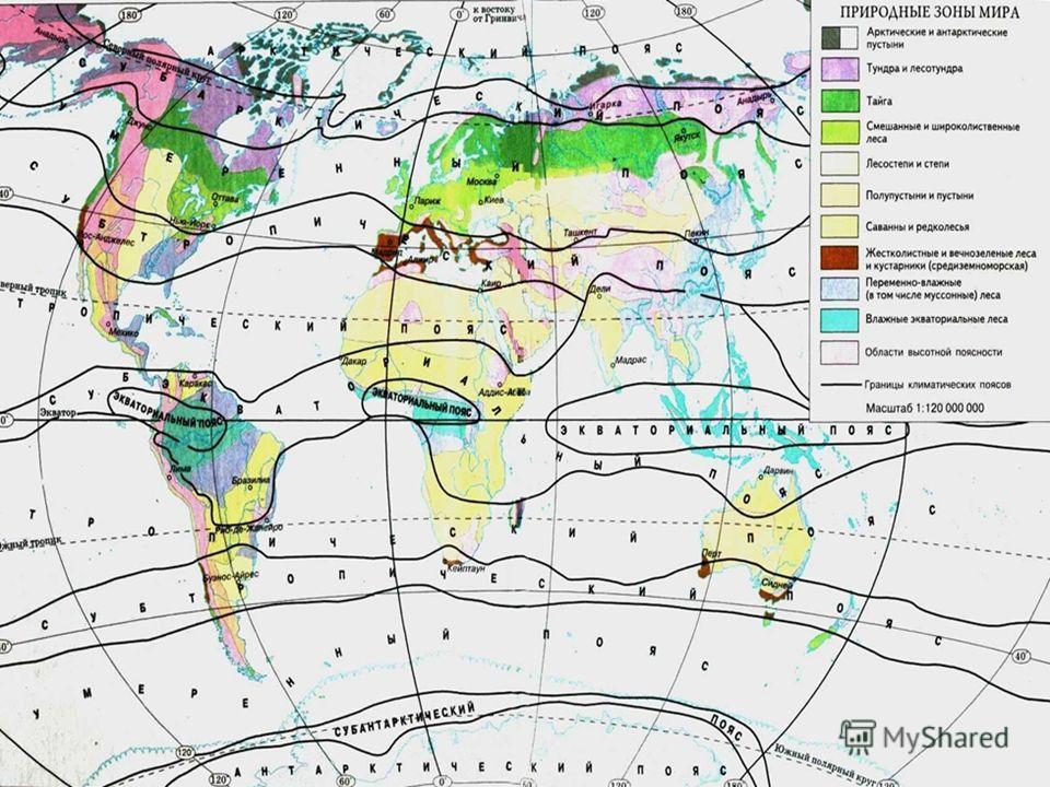 Климатические пояса мира.