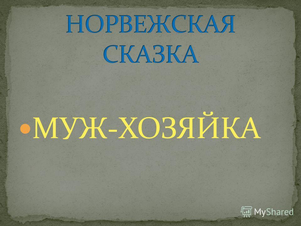 МУЖ-ХОЗЯЙКА