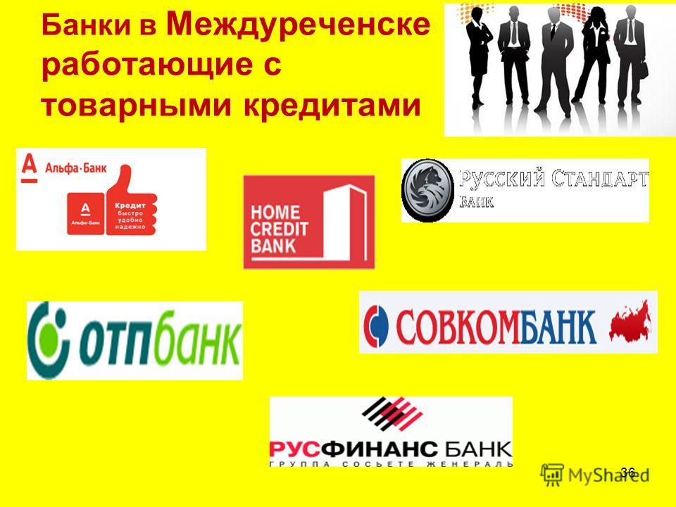 Банки в Междуреченске работающие с товарными кредитами 36