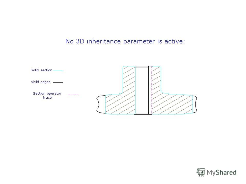 No 3D inheritance parameter is active: Vivid edges Solid section Section operator trace