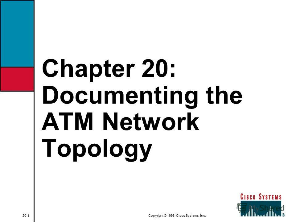 Chapter 20: Documenting the ATM Network Topology 20-1 Copyright © 1998, Cisco Systems, Inc.