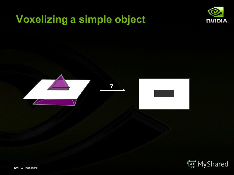 NVIDIA Confidential Voxelizing a simple object ?