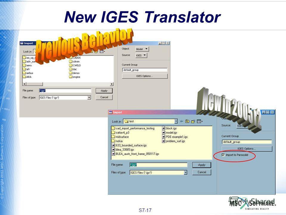 S7-17 New IGES Translator