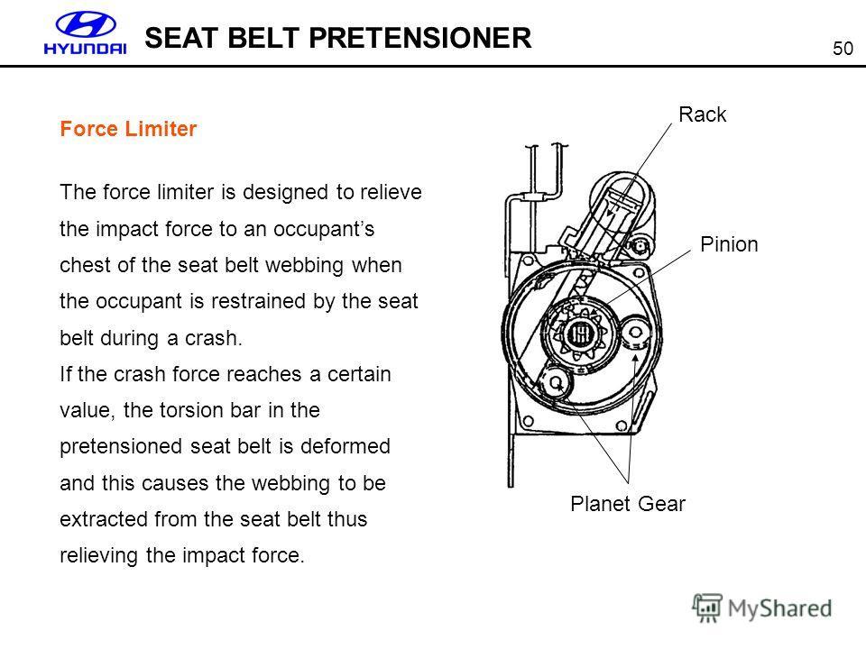 Seat belt pretensioner activation windows
