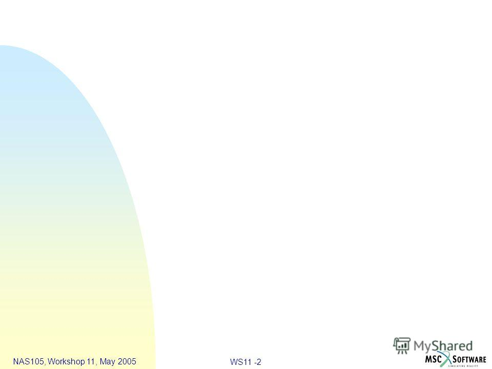 WS11 -2 NAS105, Workshop 11, May 2005