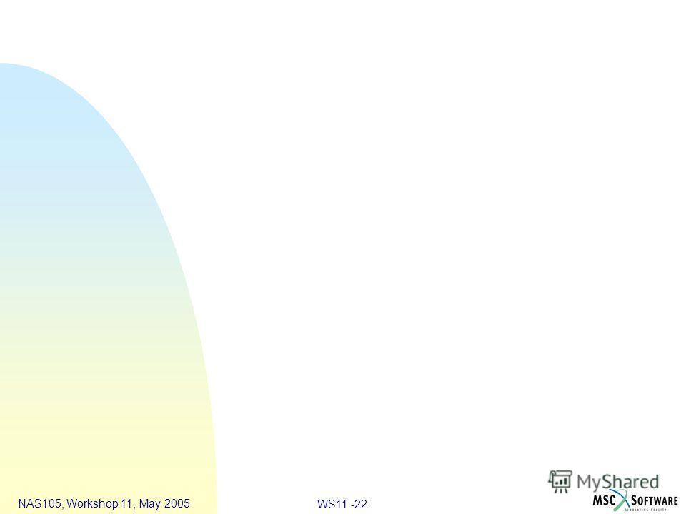 WS11 -22 NAS105, Workshop 11, May 2005
