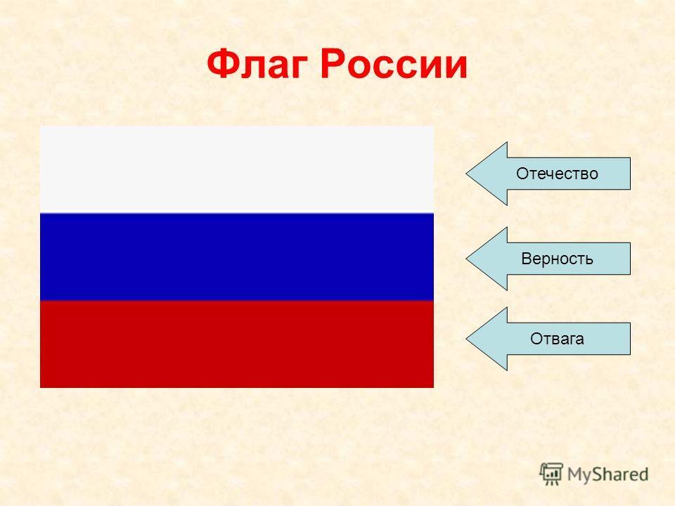 Флаг России Отечество Верность Отвага