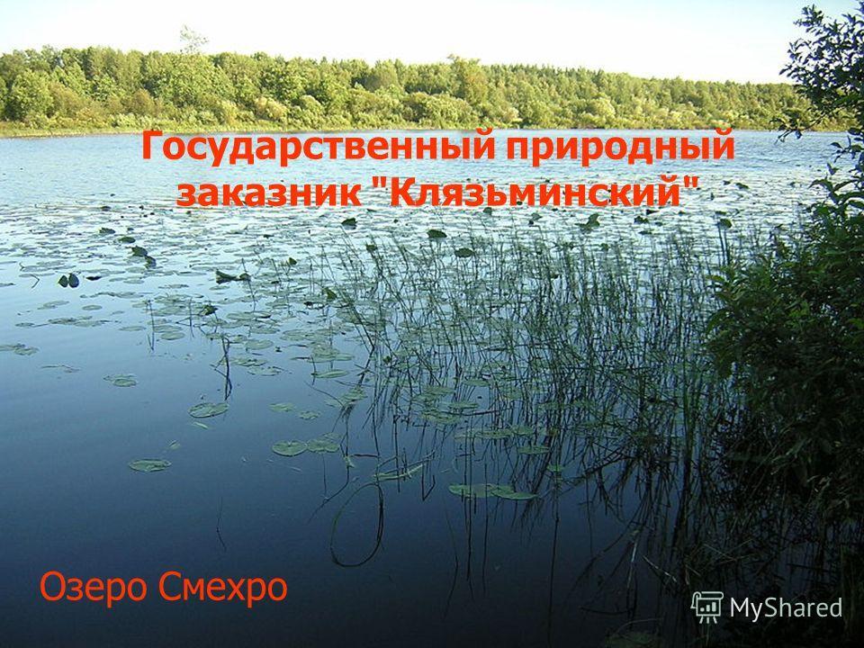 Государственный природный заказнак Клязьминский Озеро Смехро