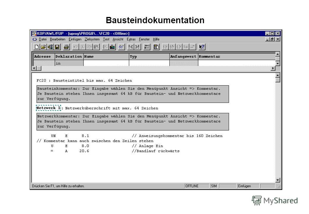 Bausteindokumentation