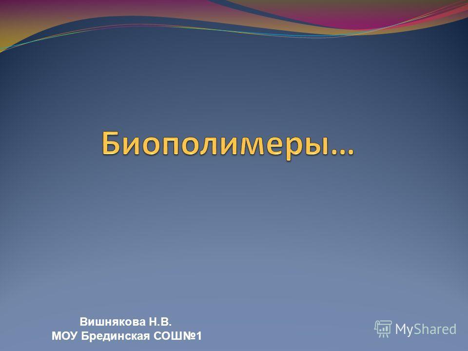 Вишнякова Н.В. МОУ Брединская СОШ1