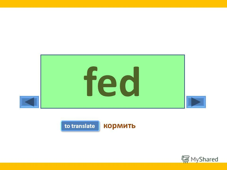 feedfed to translate кормить