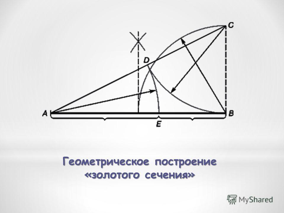 Геометрическое построение «золотого сечения»