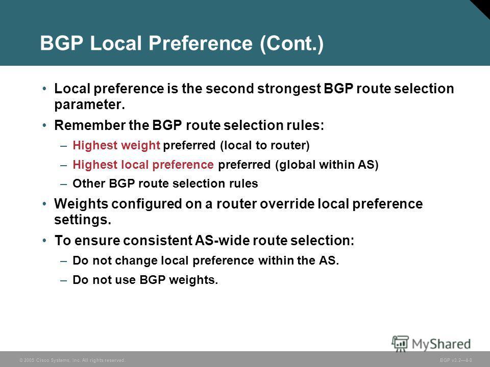 how to set local pref bgp cisco