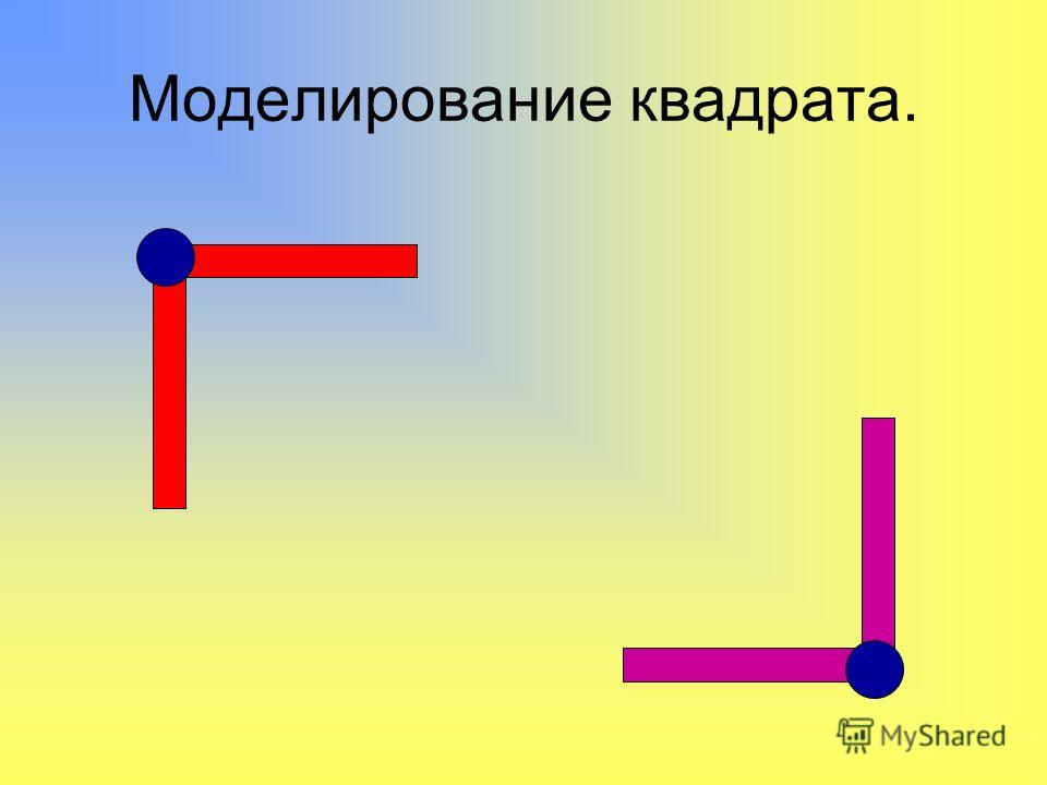 Моделирование квадрата.
