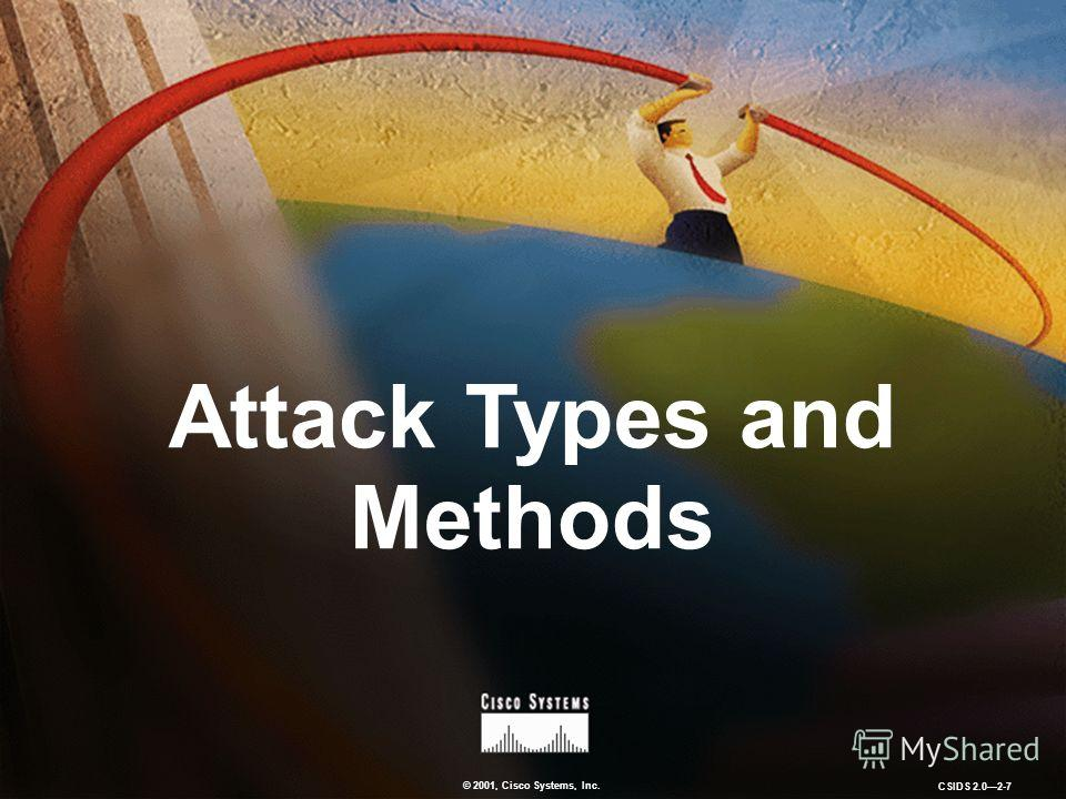 © 2001, Cisco Systems, Inc. CSIDS 2.02-7 Attack Types and Methods