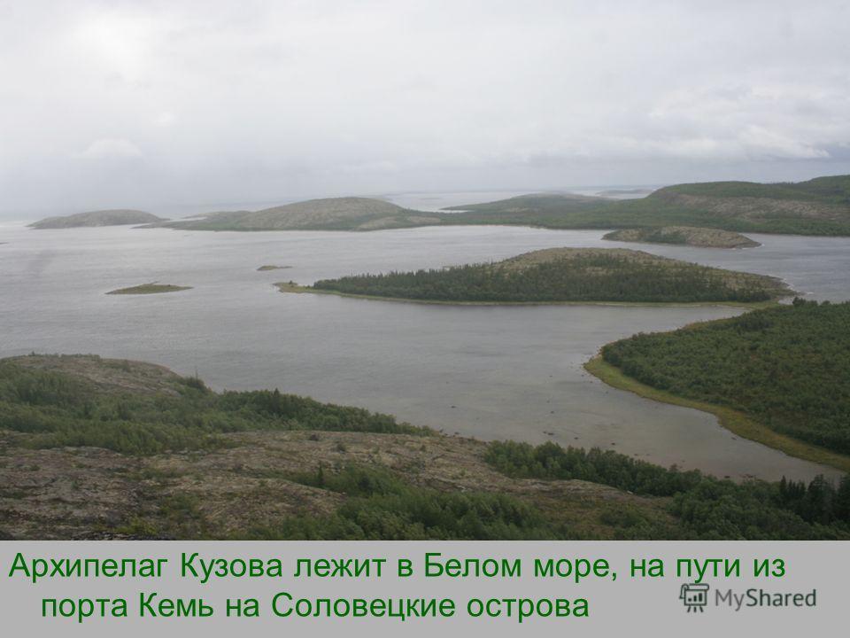 Архипелаг Кузова лежит в Белом море, на пути из порта Кемь на Соловецкие острова