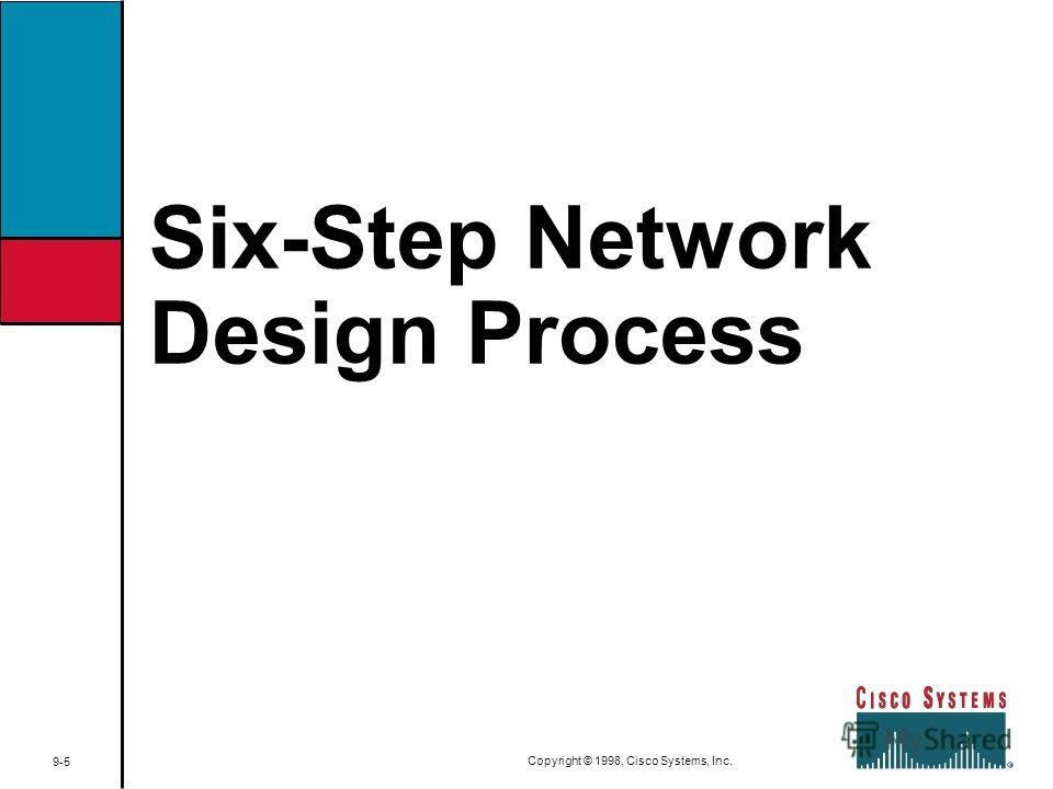 Six-Step Network Design Process 9-5 Copyright © 1998, Cisco Systems, Inc.