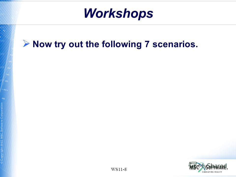 WS11-8 Workshops Now try out the following 7 scenarios.
