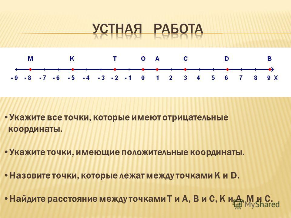 Цель урока: Ввести понятие системы координат, координатной плоскости, координат точки, абсциссы и ординаты. Отрабатывать умение строить координатные оси, отмечать точку по заданным ее координатам. Учить определять координаты точек на координатной пло