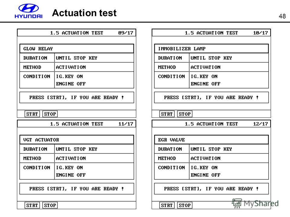 48 Actuation test