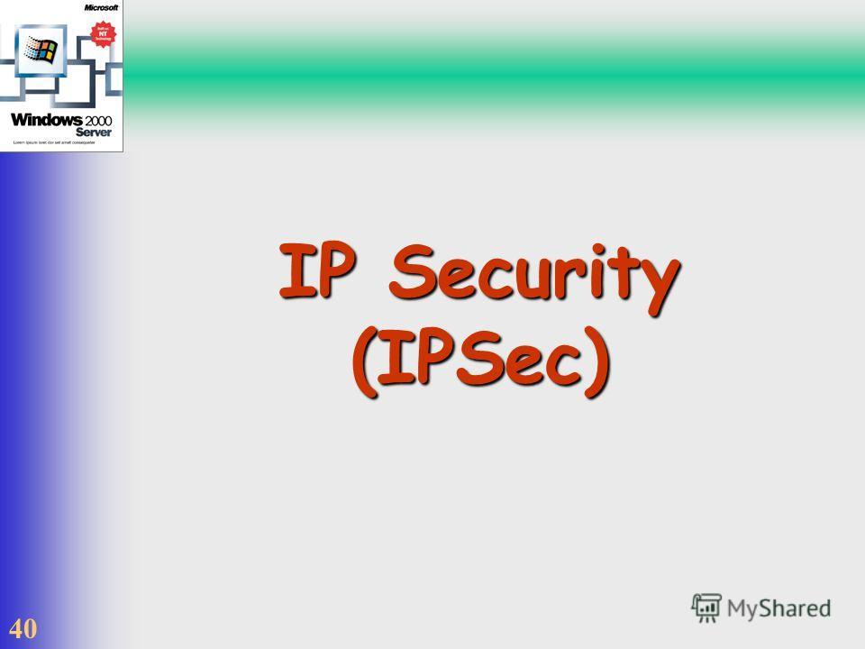 40 IP Security (IPSec)