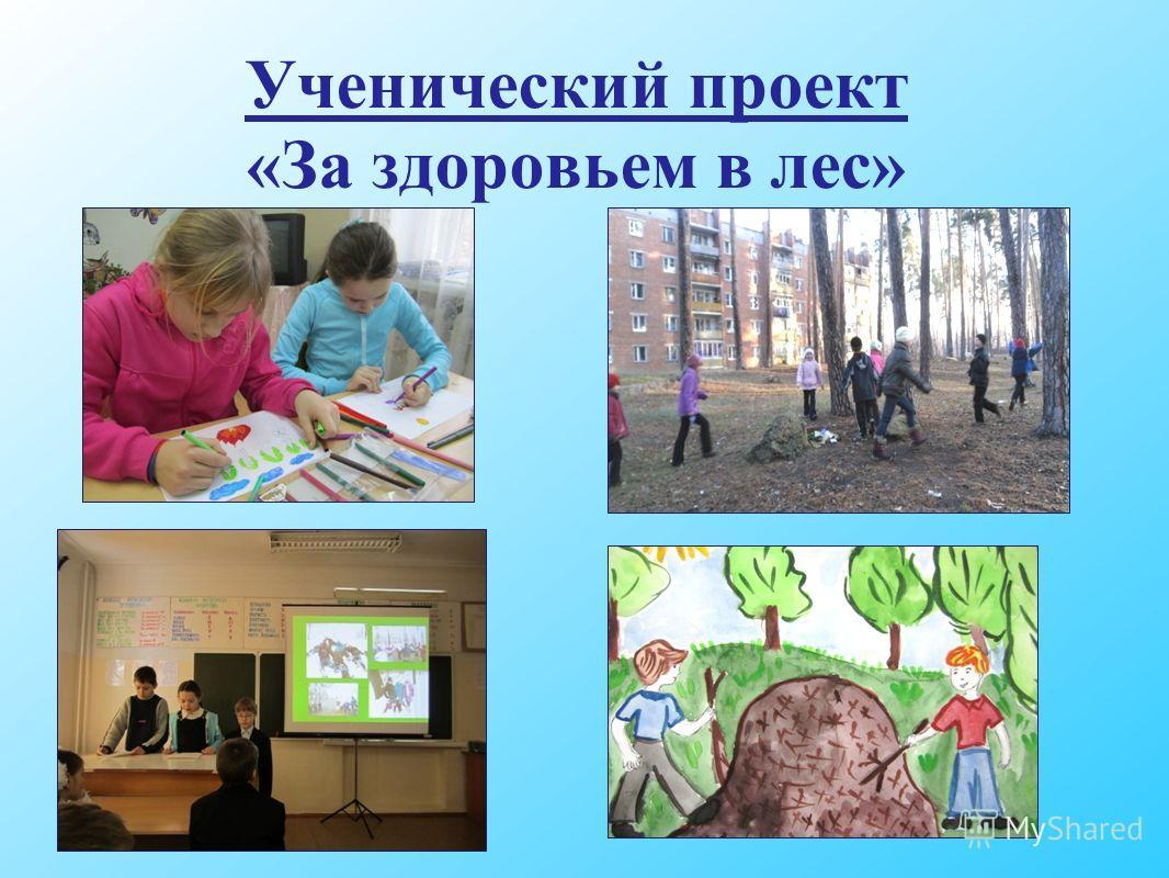 Ученический проект «За здоровьем в лес»