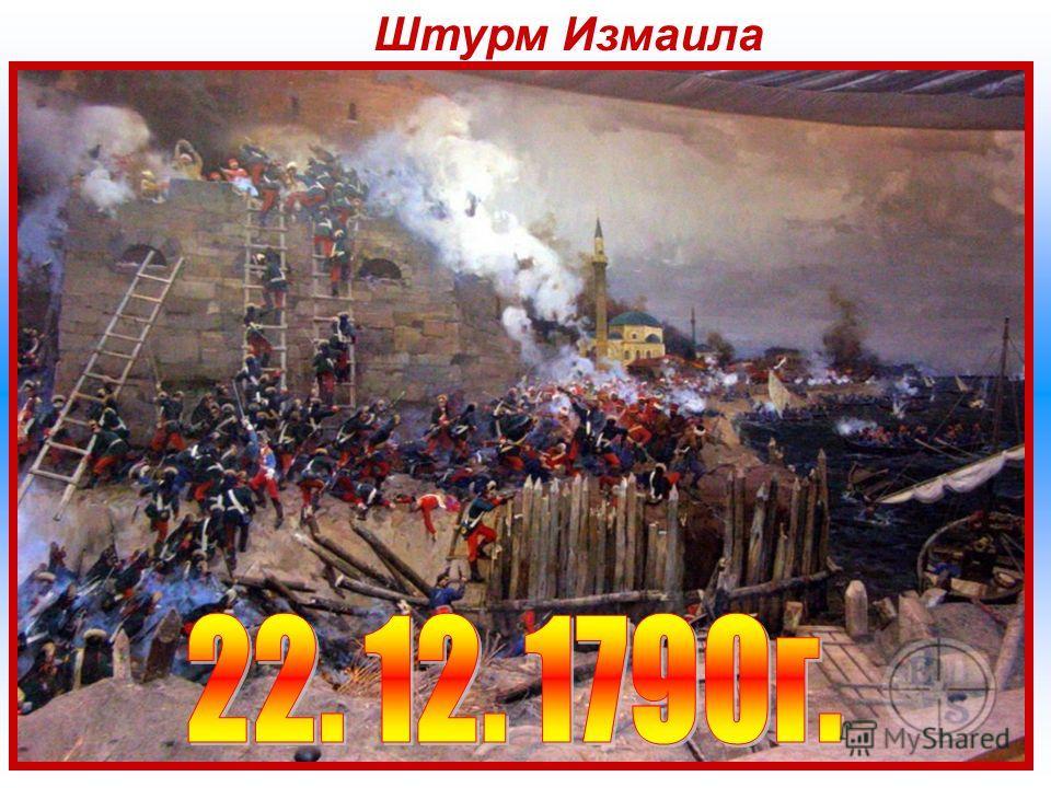 Штурм Измаила Штурм Измаила осада и штурм в 1790 году турецкой крепости Измаил русскими войсками под командованием генерал-аншефа А. В. Суворова в ходе русско-турецкой войны 17871792 гг. Штурм Измаила в 1790 г. был предпринят в ходе русско-турецкой в