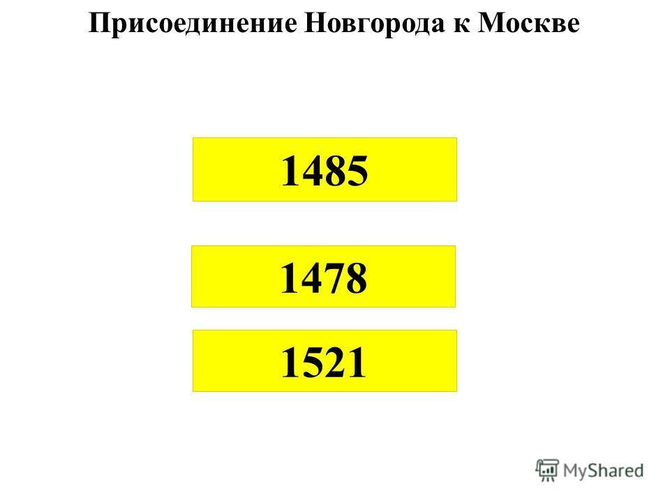 1485 1478 1521 Присоединение Новгорода к Москве