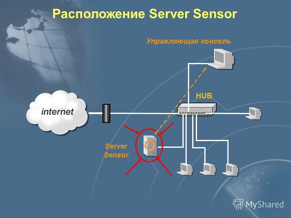 Расположение Server Sensor Server Sensor Управляющая консоль